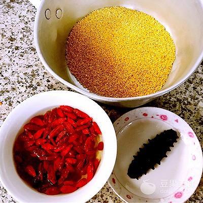 海参枸杞小米粥的做法